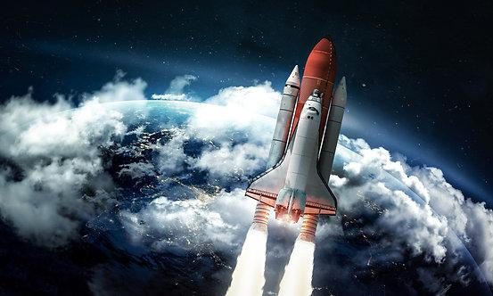 Фотообои. Фрески. Картины. Космос. Вселенная. Космический корабль. Ракета