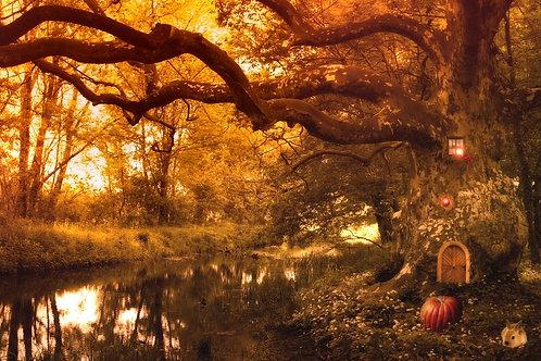 Сказочный лес с эльфийским домом