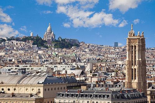 Вид на Монмартр в Париже