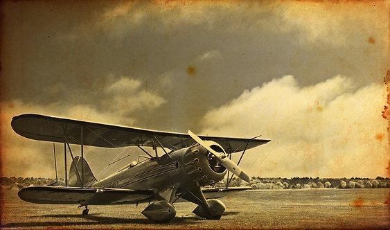 Истребитель Первой мировой войны. Старое винтажное фото
