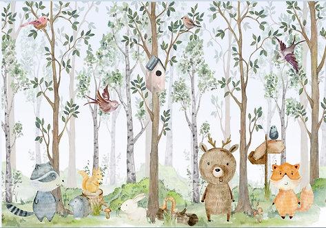 Детские обои. Лес и животные