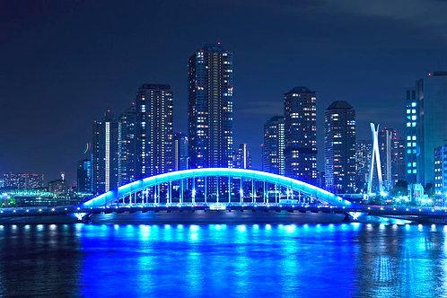 Мост Эйдай-баси и река Сумида в Токио - Япония