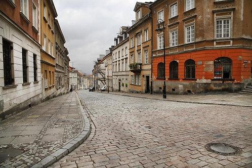 Улочка в Варшаве - Польша