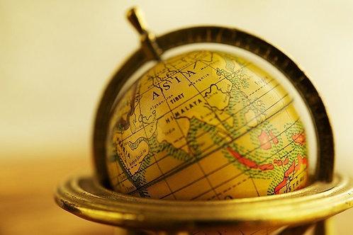 Винтажный глобус