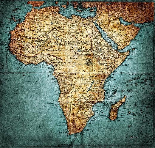 Старинная карта Африки Иоганна Маттиаса Хасе