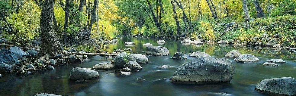 Горная река в лесу каньонов Седоны - Аризона