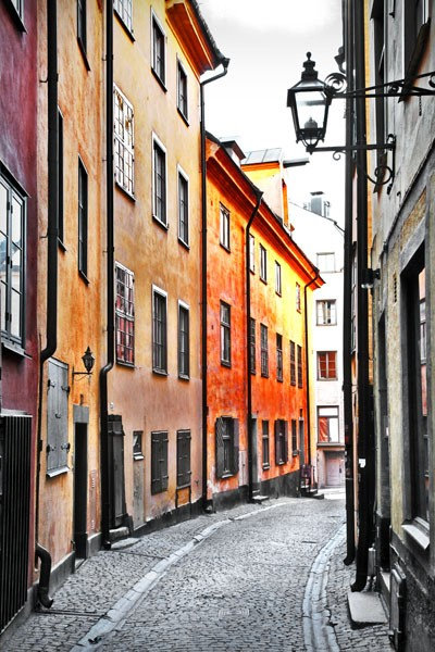 Старинная улочка в Стокгольме