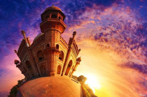 Гробница Сафдарджанга на закате - Индия