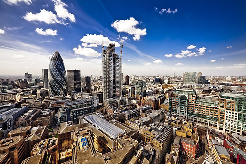 Панорама Лондона с видом на запад в сторону собора Святого Павла