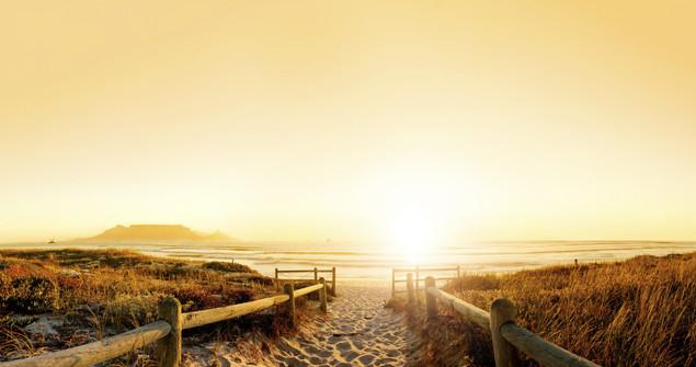 Закатная панорама пляжа возле Кейптауна - Южная Африка | #88396048