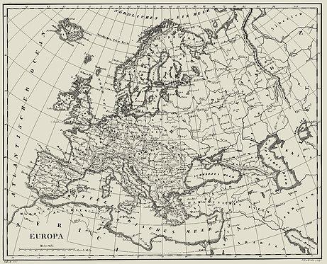 Историческая карта Европы из атласа