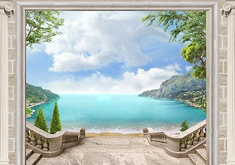 Вид на море через арку