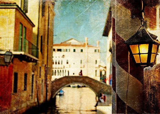 Улочка Венеции в живописном стиле