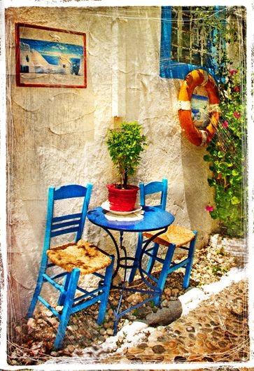 Традиционная греческая таверна
