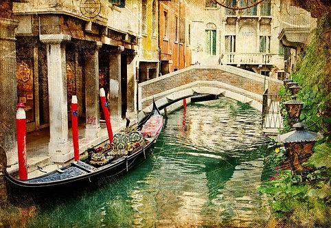 Венецианская улица в винтажном стиле