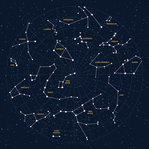 Фотообои. Фрески. Картины. Карта звездного неба и созвездий