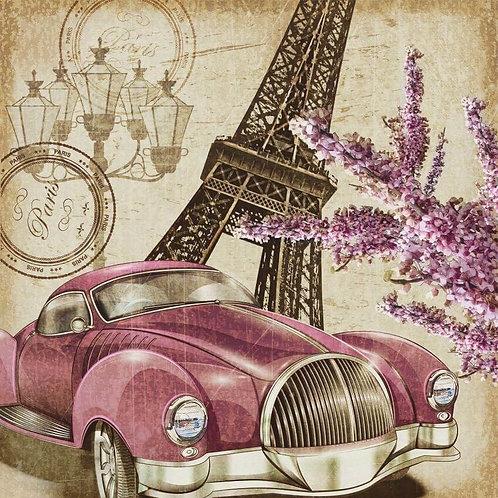 Парижский ретро-постер