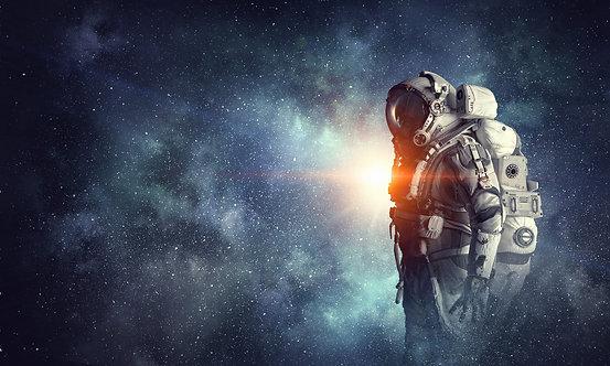 Фотообои. Фрески. Картины. Космос. Космонавт. Звезды. Вселенная