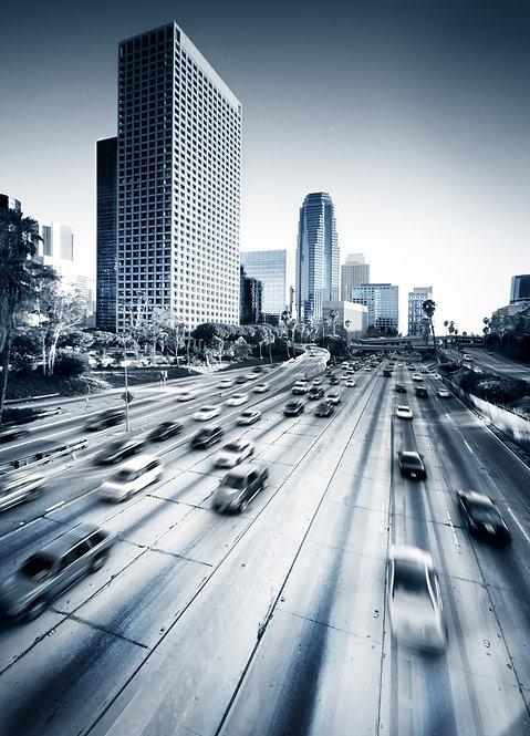 Ночное шоссе в Лос-Анджелесе