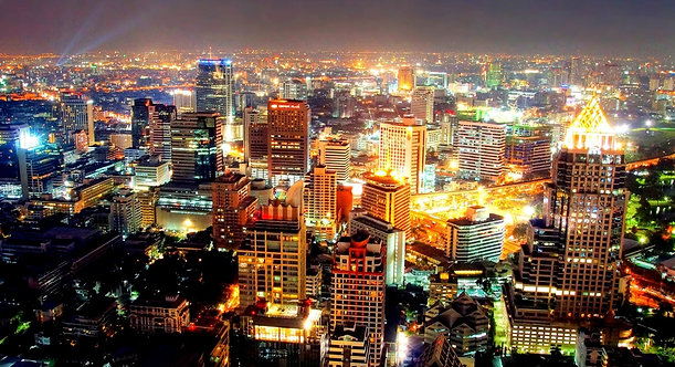 Бангкок в ночное время - Таиланд
