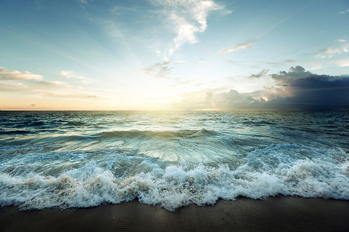 Закат над сейшельским пляжем
