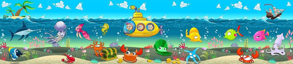 Морские детские фотообои