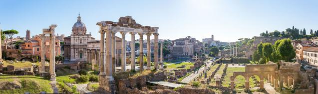 Вид на Римский форум с Капитолийского холма - Рим, Италия | #336334991