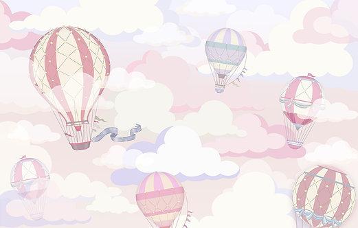 Фотообои для детской комнаты с воздушными шарами