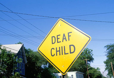 'Deaf Child' Road Sign