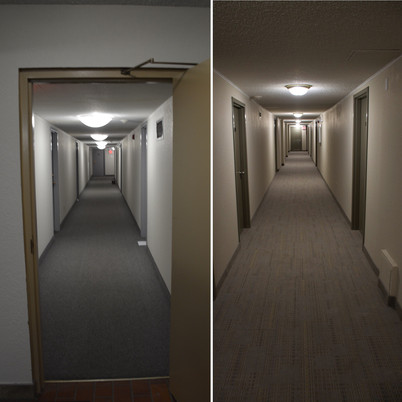 Before and After. Multi-family common area renovation