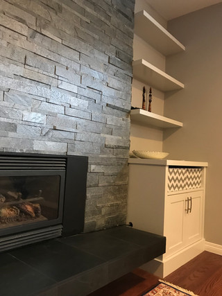 Home Renovation, Fireplace Design, Built-ins Design