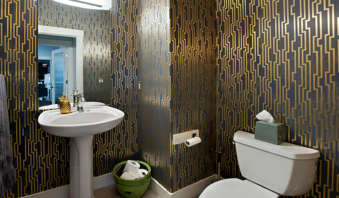 Powder Room Design, Wallpaper