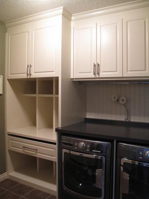 Laundry Room Renovation, Interior Design, Built-ins