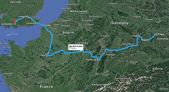 Prague, Czechia to Southampton, UK - Goo