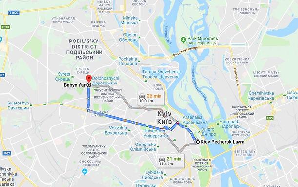 Kiev Pechersk Lavra to Babyn Yar, Kyiv,