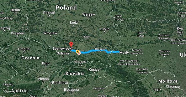 Lviv, Ukraine to Sosnowiec, Poland .jpg