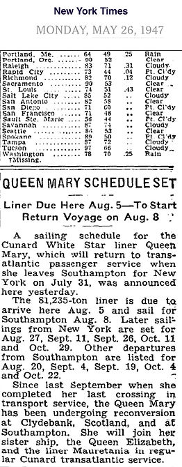 Queen Mary May 26, 1947 - NYTimes.com.jp