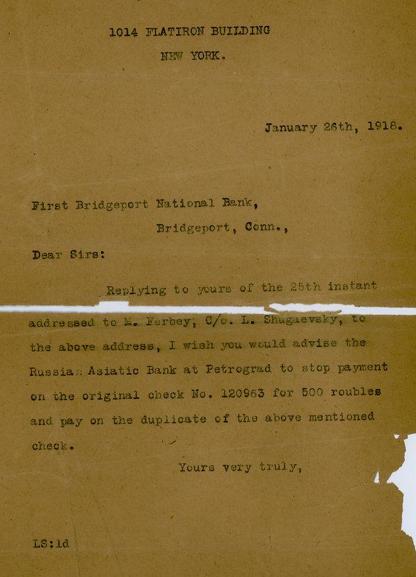1918 bank letter .jpeg