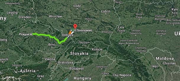 Prague, Czechia to Sosnowiec.jpg