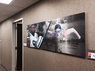 UV print on stainless steel panels, french cleat