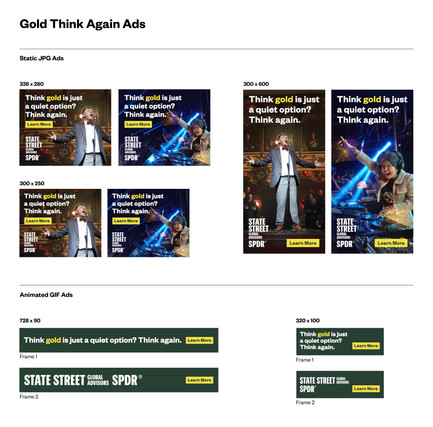 Gold Web Banners