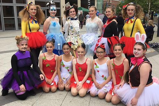 performers in Derby town centre.JPG