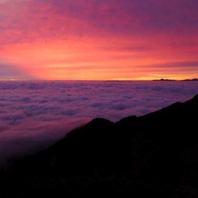 Amazing Sunrise from the Jonen Mt. Hut, Nagano