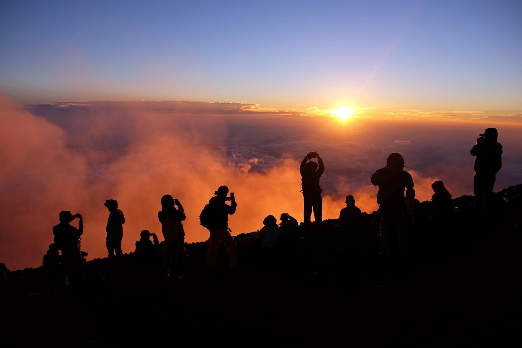 Sunrise from Mt. Fuji, Shizuoka