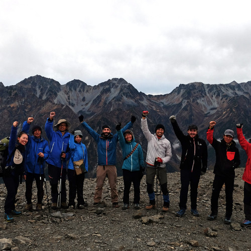 On the Summit of Mt. Cho, Nagano