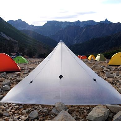 Locus Gear Khufu Shelter at the Jonen Mt. Hut, Nagano