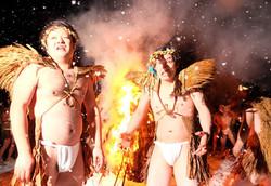 The Ancient Oami Fire Ceremony, Otari Village, Nagano