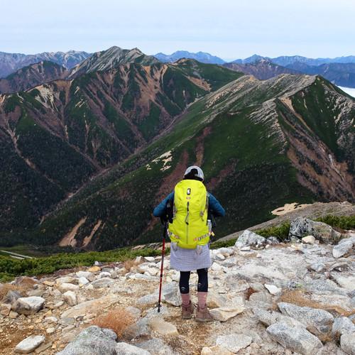 Looking Back Towards Tsubakuro from Jonen, Nagano