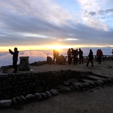 Sunrise from the Enzan Mt. Hut, Nagano