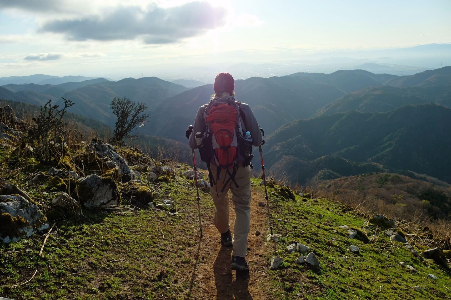 Fall Hiking on Mt. Ryozen in the Suzuka Mountains, Shiga